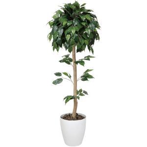 光触媒人工観葉植物 ベンジャミントピアリー 1.2m hikarinorakuen