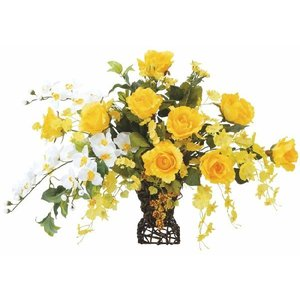 造花アレンジフラワー ツインゴールド|hikarinorakuen
