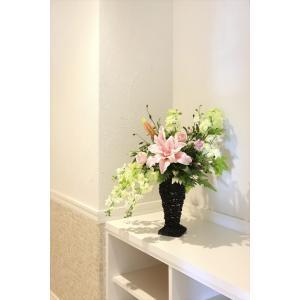 造花アレンジフラワー フリルカサブランカ|hikarinorakuen