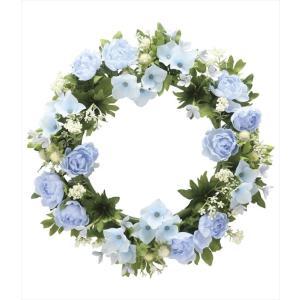 光触媒 光の楽園ローズリースBL 壁掛けタイプアートフラワー(造花)|hikarinorakuen