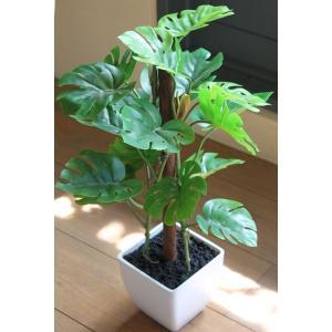 人工観葉植物 フレッシュモンステラポット hikarinorakuen