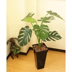 光触媒人工観葉植物 モンステラBK100|hikarinorakuen