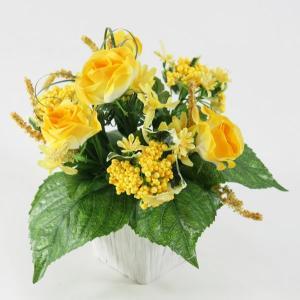 光触媒造花 ミックスローズY|hikarinorakuen