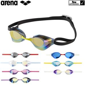 スイミングゴーグル 競泳 レーシング アリーナ ARENA AQUAFORCE SWIFT アクアフォーススイフト FINA承認 競泳 ミラーゴーグル ノンクッション AGL-130M