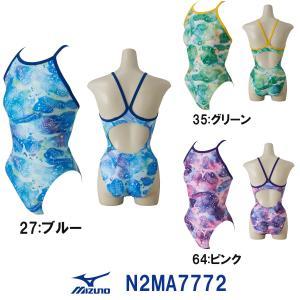 N2MA7772MIZUNO(ミズノ)レディース競泳練習水着EXERSUITSU-Fitミディアムカット女性用/長持ち/練習用/選手/ワンピース
