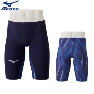 【1月下旬 予約販売 初回予約特典付】ミズノ 競泳水着 メンズ GX SONIC5 MR マルチレーサー オーロラ×ブルー ハーフスパッツ MIZUNO 2020年モデル N2MB0002