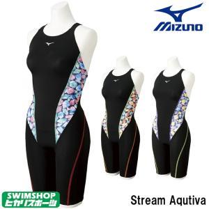 ミズノ MIZUNO 競泳水着 レディース ハーフスーツ Stream Aqutiva ストリームフィット2 2020年秋冬限定モデル N2MG0751|SWIMSHOPヒカリスポーツ