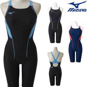 ミズノ MIZUNO 競泳水着 レディース 練習用水着 エクサースーツ ハーフスーツ U-Fit 競泳練習水着 N2MG8278|SWIMSHOPヒカリスポーツ