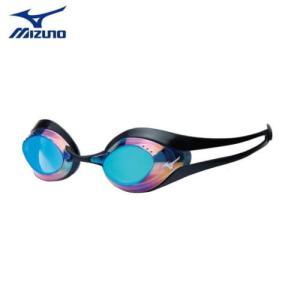 水泳ゴーグル N3JE600109 MIZUNO(ミズノ) 競泳用ノンクッションスイムゴーグル GX・SONIC EYE ミラータイプ FINA承認モデル/選手向き/スイミング/水泳