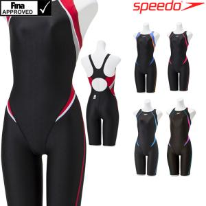 スピード SPEEDO 競泳水着 レディース FINA承認 セミオープンバックニースキン FLEXΣ2 SCW11910F 2019年秋冬モデル