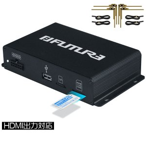 地デジチューナー 4×4 ワンセグ/フルセグ 車載用 フルセグチューナー 第四代 高画質 HDMI出...