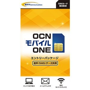 NTTコミュニケーションズ OCN 格安SIMカード モバイルONE 音声・SMS・データ共通 T1100211|hikaritv