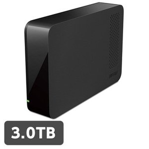 バッファロー 外付ハードディスク USB3.0 PC&TV両対応 省エネ機能付 3TB ブラック HD-LC3.0U3/N