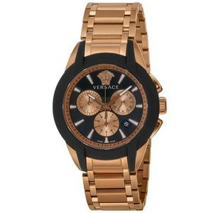 f6b0528e7e VERSACE(ヴェルサーチ) □腕時計 キャラクタークロノ メンズ ブラック VEM800318