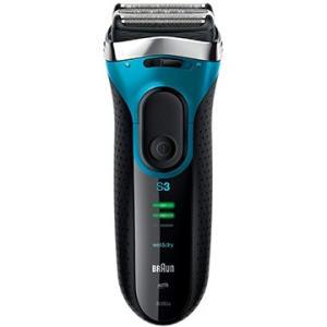 ブラウン メンズシェーバー シリーズ3 水洗い/お風呂剃り可 ブルー 3080s-B-JA