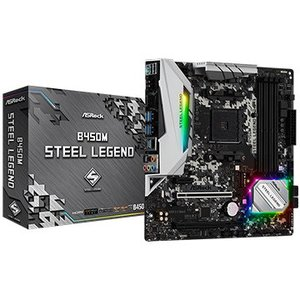 ASRock マザーボード B450M Steel Legend B450M-STEEL-LEGEN...