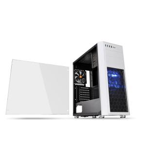 Thermaltake PCケース Versa H26 White /w casefan CA-1J5-00M6WN-01|hikaritv
