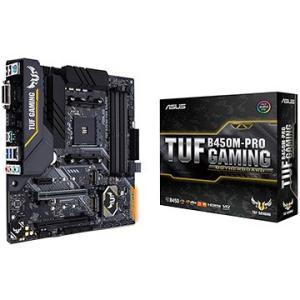 ASUS AMD B450 mATXゲーム用TUFシリーズマザーボード TUF B450M-PRO ...