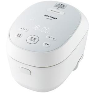 シャープ IHジャー炊飯器 3合炊き PLAINLY ホワイト系 KS-HF05B-W