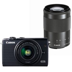 CANON ミラーレスカメラ EOS M100・ダブルズームキット (ブラック) EOSM100BK...
