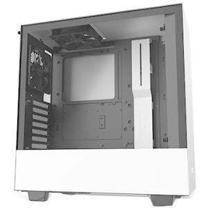 NZXT PCケース H510 ミドルタワー [ White & Black ] CA-H510B-W1|ひかりTVショッピング