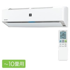 SHARP プラズマクラスターエアコン J-Hシリーズ おもに10畳用 フィルター自動掃除【大型商品...