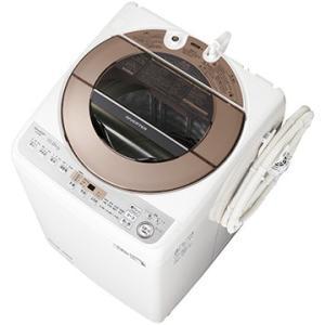 SHARP たて型全自動洗濯機(洗濯10kg) ブラウン系【大型商品(設置工事可)】 ES-GV10...