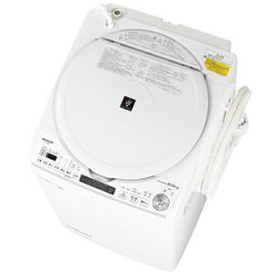 SHARP たて型洗濯乾燥機(洗濯8kg) ホワイト系【大型商品(設置工事可)】 ES-TX8E-W