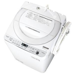 SHARP 全自動洗濯機 7kg ホワイト系【大型商品(設置工事可)】 ES-GE7E-W