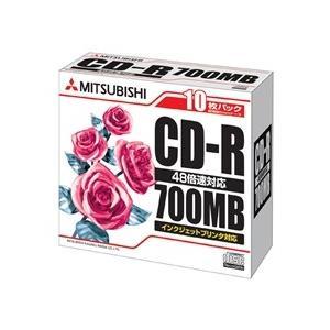 Verbatim CD-R 700MB 4-48x 10枚スリムケース ホワイト SR80PP10