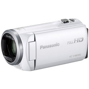 パナソニック(家電) デジタルハイビジョンビデオカメラ (ホワイト) HC-V480MS-W