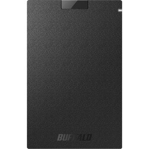 バッファロー USB3.1 ポータブルSSD Type-Cケーブル付 240GB SSD-PGC240U3-BA|hikaritv