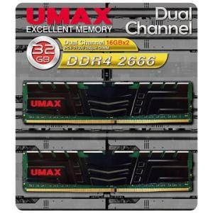 UMAX DDR4-2666 32GB(16GB×2) H/S UM-DDR4D-2666-32GB...