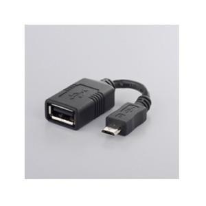 バッファロー USB変換アダプター USB-microB:USB-Aメス ブラック BSMPC11C...