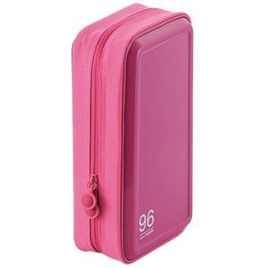 エレコム CD/DVDケース/セミハード/ファスナー付/96枚入/ピンク CCD-H96PN