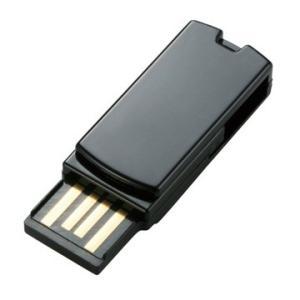 ELECOM 超小型回転式USB2.0メモリ/16GB/ブラック/簡易P MF-RSU216GBK/...