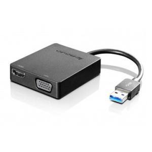 Lenovo ユニバーサル USB3.0-VGA/HDMIアダプター 4X90H20061