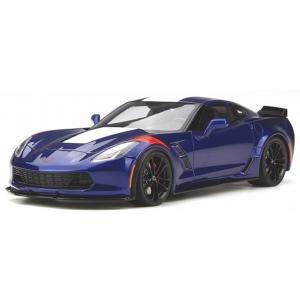 【GT SPIRIT】 1/18 シボレー コルベット グランスポーツ  (ブルー/レッドストライプ) ※USA特注|hiko7