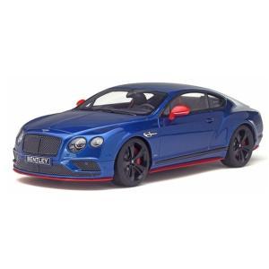 【GTスピリット】 1/18 ベントレー コンチネンタル GT スピード ブラックエディション (ブルー) アジア限定モデル ※限定500台(日本国内250台)|hiko7