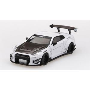[MINI GT] 1/64 LB Works Nissan GT-R White (右ハンドル)