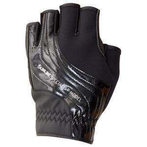 サンライン ネオプレーングローブ  SUG-402(5本) ブラック×ブラック 手袋 5本指カットSUNLINE  Neo-PLAIN Glove|hikoboshi-fishing|02