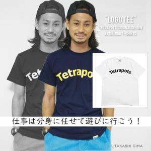 テトラポッツ ロゴTEE TPT-029 ホワイト Tシャツ