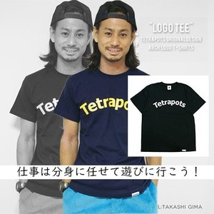 テトラポッツ  ロゴT ロゴTEE ブラックTシャツ モンゴル800 モンパチTetrapots L...