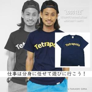 テトラポッツ ロゴTEE PT-029 ネイビー Tシャツ