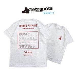 テトラポッツ Tシャツ ショアT TPT-043半袖 カラー:アッシュ(灰色)Tetrapots S...