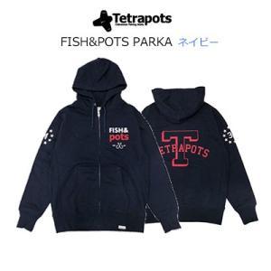 テトラポッツ フィッシュ&ポッツパーカーTPO-014 ネイビー 長袖 Tetrapots FISH...