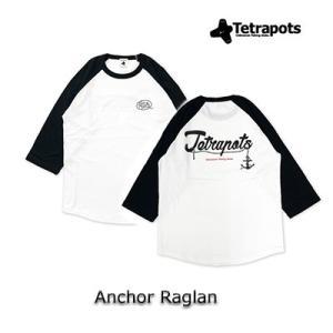 テトラポッツ アンカーラグラン TPT-051Tシャツ ホワイト ラグラン袖 Tetrapots A...