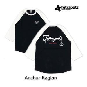 テトラポッツ アンカーラグラン TPT-051Tシャツ ブラック ラグラン袖 Tetrapots A...