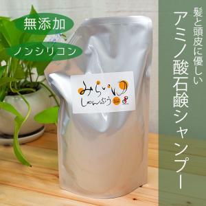 スクワラン配合のアミノ酸石けんシャンプー『みらいゆ しゃんぷぅ』 800mL詰替|hikwsi-powata