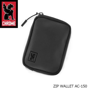 クローム CHROME 財布 小銭入れ コインケース ブラック 黒 ミニ財布 ジップ ウォレット ZIP WALLET メンズ レディース AC150 AC150 国内正規品|hikyrm